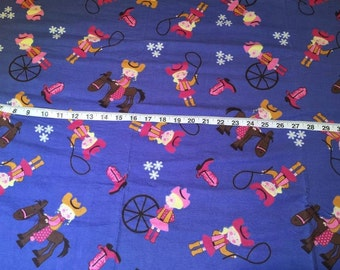 Cowgirl Cotton Fabric by the Yard