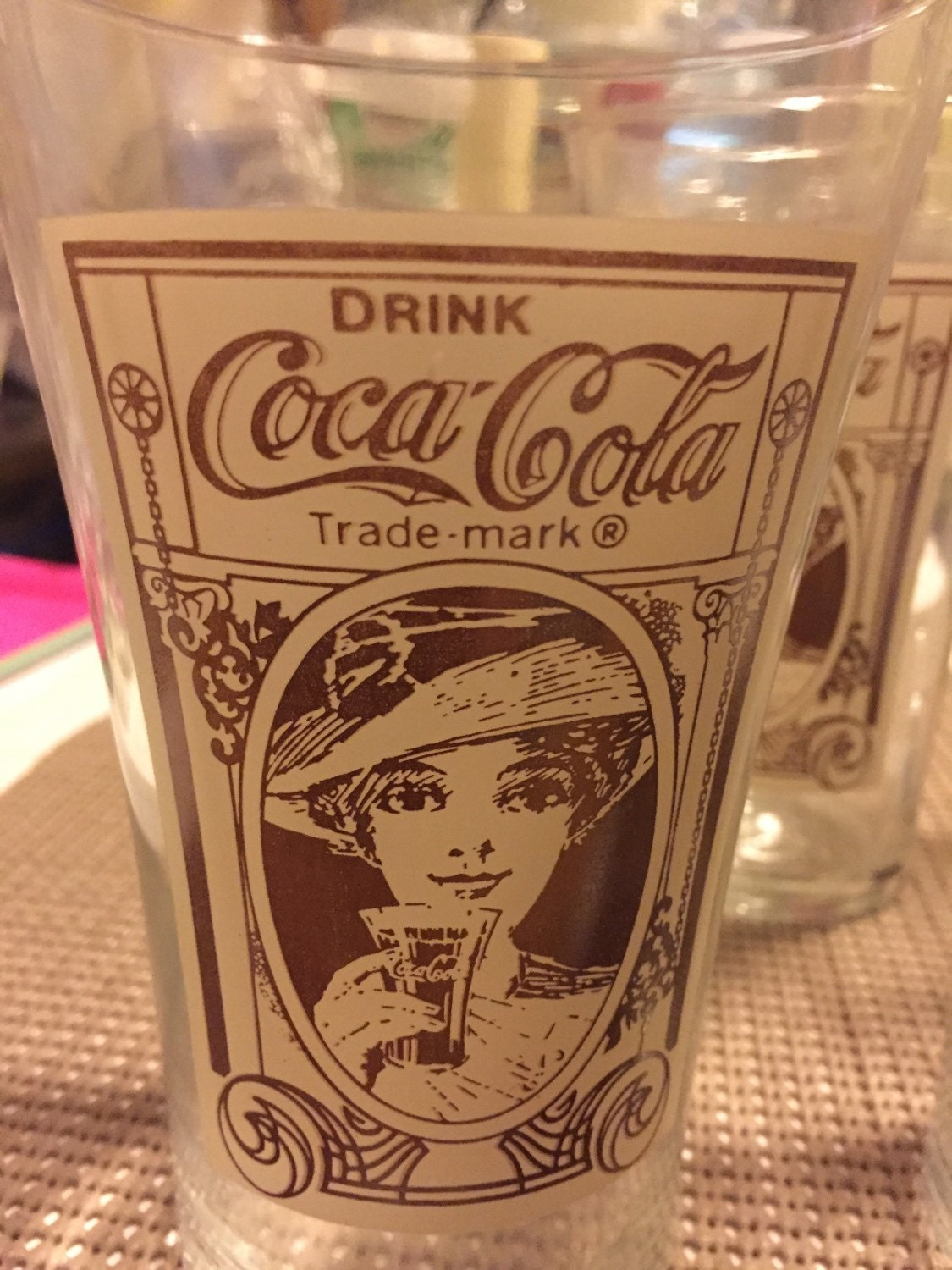 Vintage Coke Glasses 107