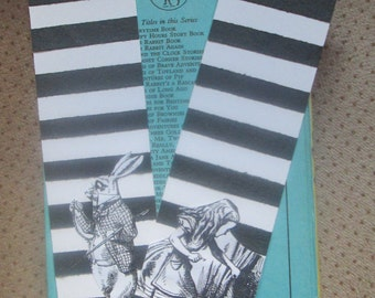 Alice in Wonderland Stripes and Spots bookmarks x 2