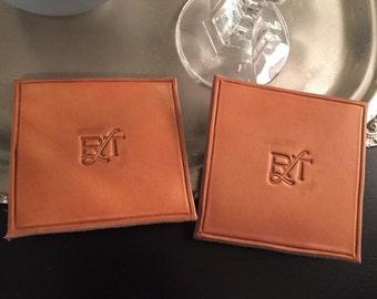Handmade Leather Coasters