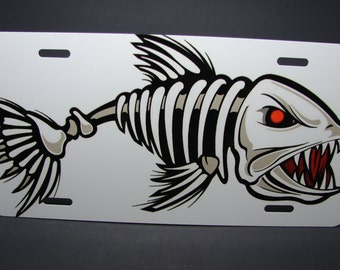 Bonefish metal license plate for cars and trucks.. fishing.. saltwater.. freshwater.. watersports..
