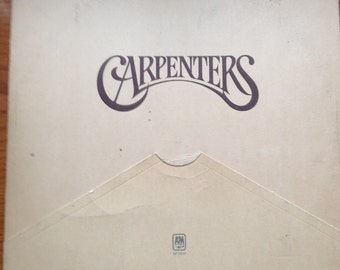 "The Carpenters vintage vinyl album-""Carpenters""  Rainy Days and Mondays, Superstar, Karen Carpente music, music gift for wife, 33rpm"
