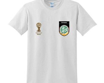Brazil 2014 Football World Cup WINNERS Commemorative Tshirt GERMANY Sportswear