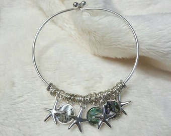 Starfish Charm Bracelet in Silver