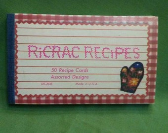 Vintage Ricrac Recipes (50) recipe cards in a pack