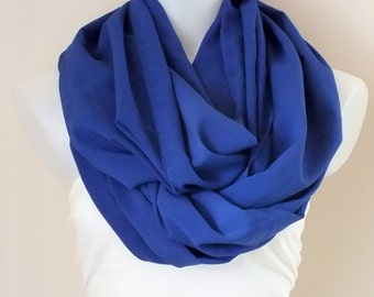 Royal blue infinity scarf Crown blue scarf Loop scarf Circle blue scarf Women accessories Gift