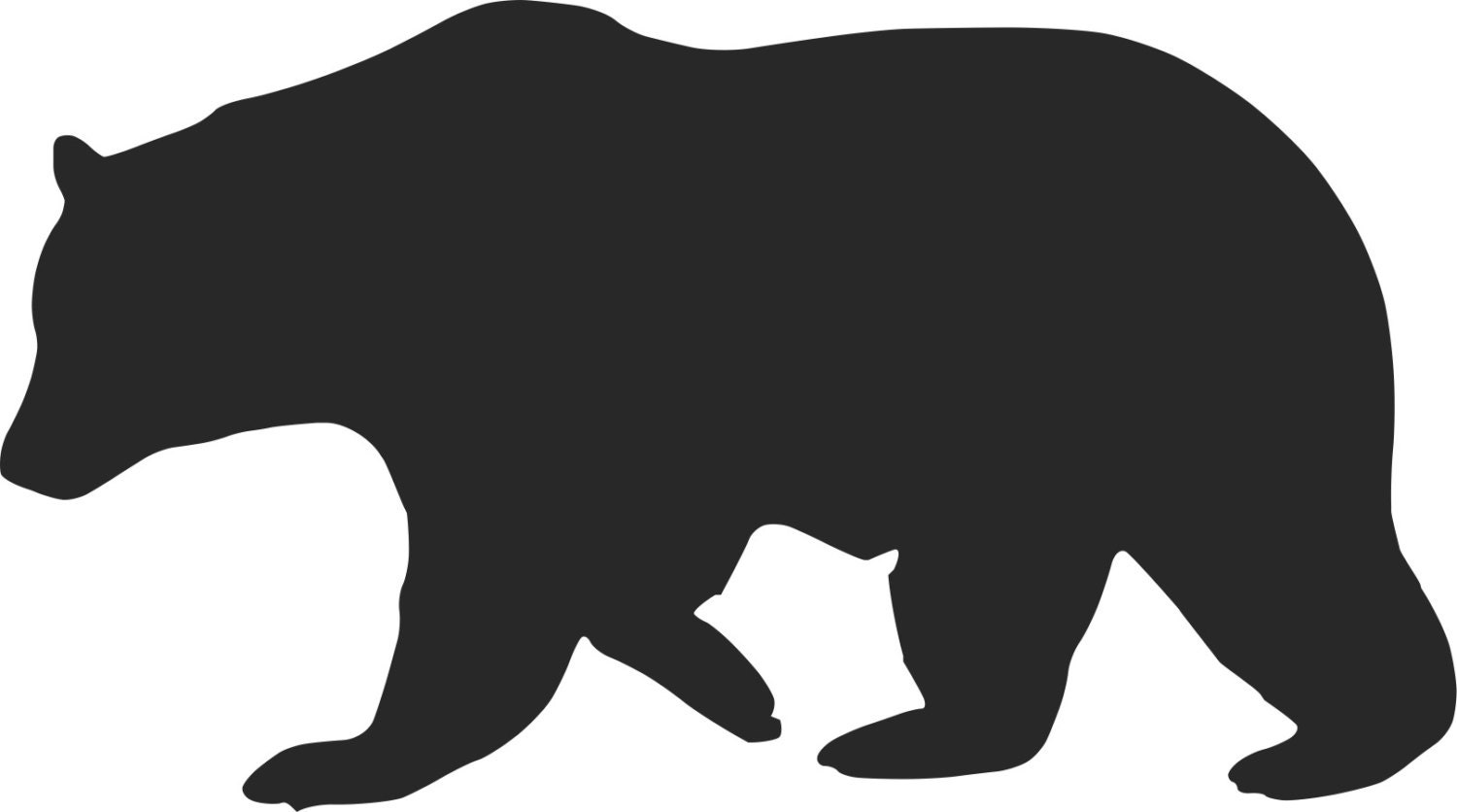 Pack Of 3 Bear 2 Stencils Made From 4 Ply Mat Board