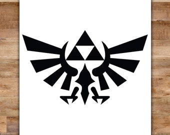 The Legend of Zelda Decal - Triforce Decal Bird Emblem Zelda Decal Video Game Decor Video Game Decals Geek Decals Link Hyrule