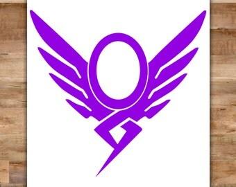 Overwatch Mercy Decal - Mercy Overwatch Sticker Guardian Angel Decal Heroes Never Die Video Game Decals Geek Decals Video Game Decor