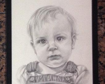 Custom graphite pencil portrait (1 Figure)