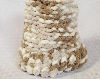 Cozy Knit Newborn Hat, Autumn Camo