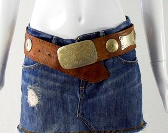 ViNTagE: Boho Festival Leather Belt - Hippie Leather Belt - Boho Belt - Free Spirit - SKU 19-E2-00008574
