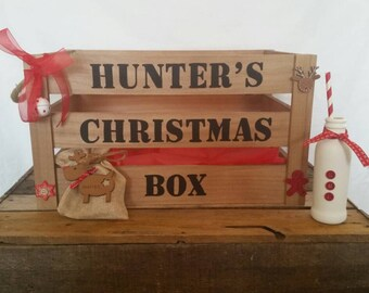 Christmas eve box, Christmas eve crate, Christmas crate, Xmas eve box, Christmas hamper, goodie box, personalised Christmas eve box, santa