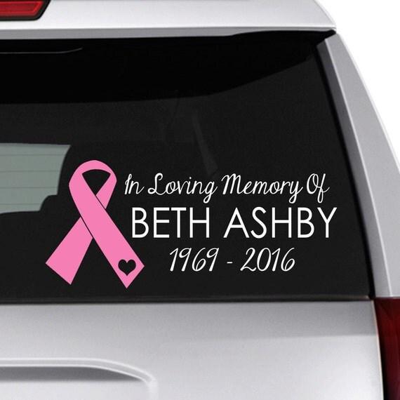 In Loving Memory Decal Memorial Car Decal In Memory Of Mom