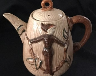 Antique Jack and the Beanstalk Fairy Tale Teapot