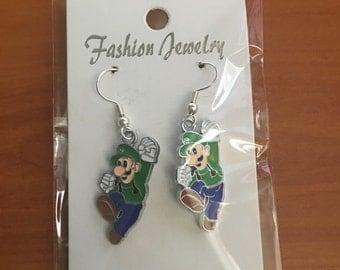 Mario , Luigi, Amy and Sonic drop earrings