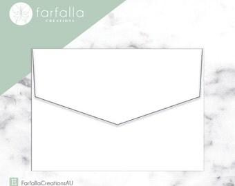 Marshmallow Crisp White Envelopes 130x190mm // Pack 10 // Fits 5x7in Invites