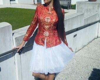 Asian Silk Brocade Jacket, XS/S