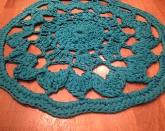 Fabric Yarn Doily Rug