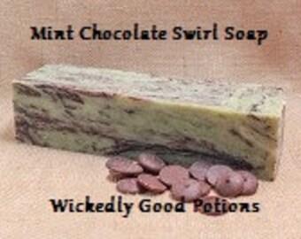 Mint Chocolate Swirl Soap