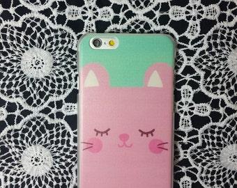 Cute iPhone 6 case - Pink Cat