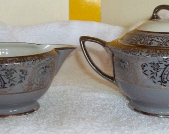Vogue Fine China Sugar Bowl & Creamer