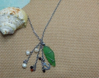 seaside stainless steel pendant necklace