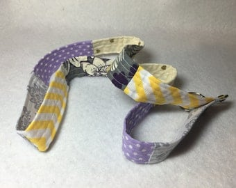 Handmade Purple and Yellow Quilted Lanyard