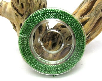 1 Roll 1mm Jewelry Braided Thread Nylon Fibre Cord Bright Green 10M (B223c6)