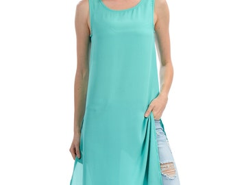 Mint Sleeveless Tank Dress