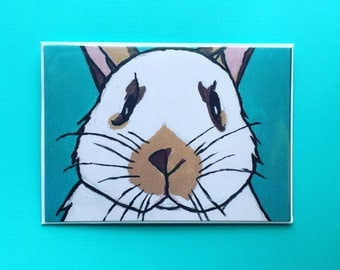 Chester The Rabbit Blank Greeting Card: Thank You, thinking of you, ect