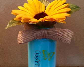 Be Happy Upcycled Jar