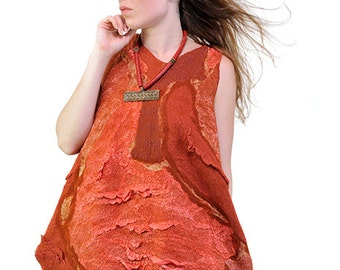 "Nuno felted dress ""Сherry"""