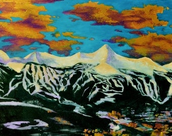 BRECKENRIDGE 24x36 ORIGINAL acrylic on gallery wrapped canvas by Mr.Dojo