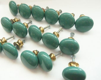 Turquoise DRAWER PULLS - Set of 15