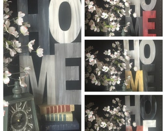 13X24 HOME Custom Metal Art Home Decor Sign