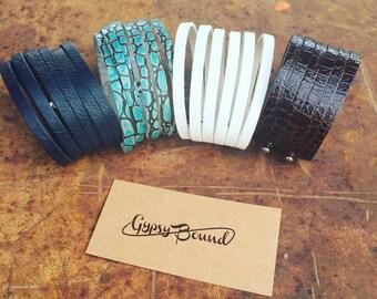 Maya Wrap, Repurposed Leather