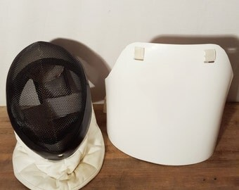 Mens Fencing Mask with Pastic Chest Protector by Absolute Fencing Gear / Foil Fencing Mask and Plastic Chest Protector