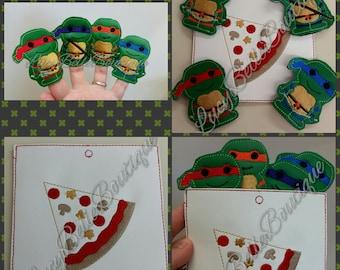 Turtle Finger Puppets