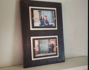 Solid double mat frame - 5x7 - Cherry Chocolate