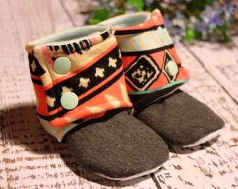 Aztec Booties, Crib Shoes