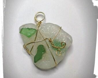 Sea glass , beachglass , pendant necklace , sea glass, sea