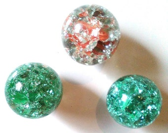 Set, 3 x Fridge Magnet, marbles, cracked marble