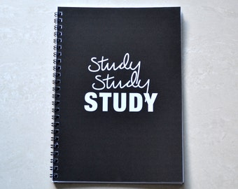 Study Study STUDY A5 Spiral Notebook