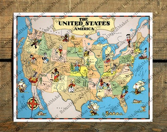 Us Map Pillow Etsy - Us map pillow