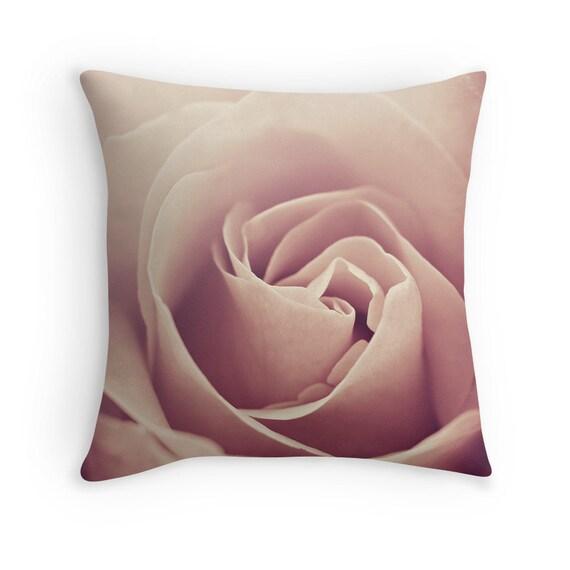 Blush Rose Throw Pillows : Blush Pink Flower Pillow Decorative Throw PILLOW home decor