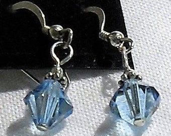 Swarovski Crystal Dangle Earrings with Sterling Silver Compoents