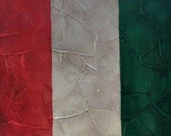 Italian flag 25 x 30 cm studio italy boys acrylic on canvas end States flags collection