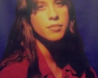 Alanis Morissette 24x34 Red Blouse Portrait Poster 1996