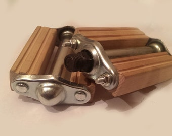 Free Shipping - wooden bicycle pedals / oak wood pedals /